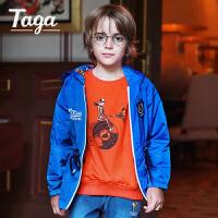 TAGA童装2017春季新款男童外套梭织风衣儿童运动上衣服大童拉链衫