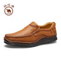 骆驼牌男鞋 套脚舒适复古手工缝制鞋男士透气耐磨日常休闲鞋