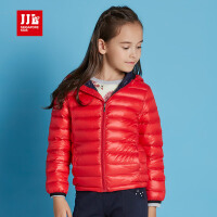 jjlkids季季乐童装女童短款羽绒服2016新款纯色连帽保暖休闲外套GQY61241