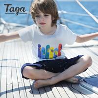 【买2免1】 TAGA童装男童短袖T恤 2017夏季新品儿童纯棉夏季上衣3-15岁
